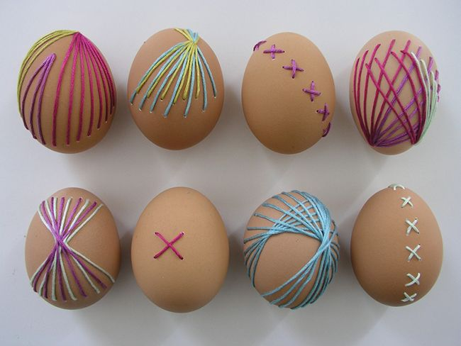 Brett Bara embroidered eggs
