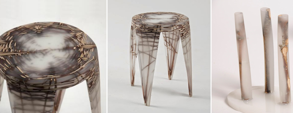 Wiktoria Szawiel resin natural fibres furniture