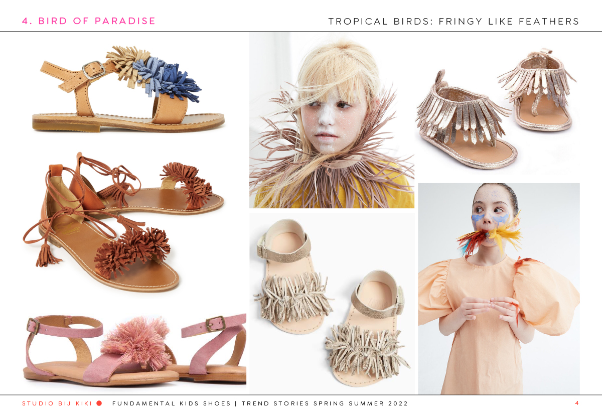 bij kiki fundamental kids bird of paradise shoes