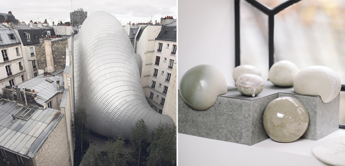 blob grey architecture melt stone melting paris round form ceramics
