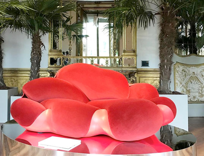bomboca sofa red design furniture louis vuitton interior design painting art
