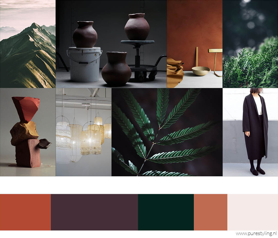 dark nature pure styling color trends 2019