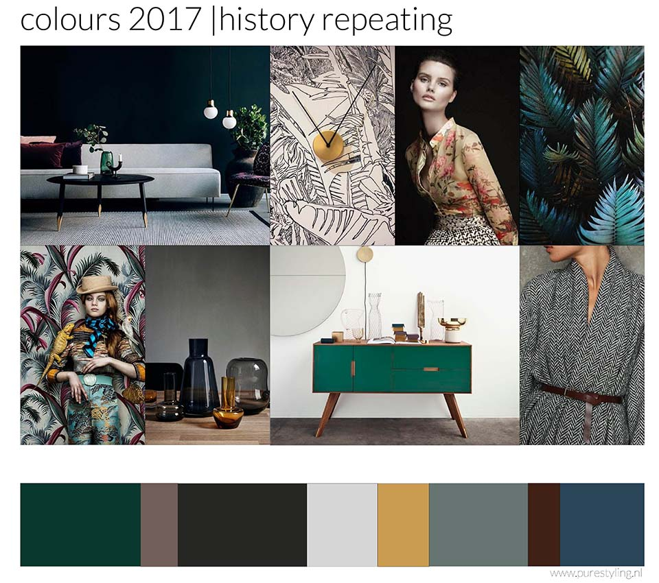 de kleuren van 2017 kleurtrends door heidi willems history repeating