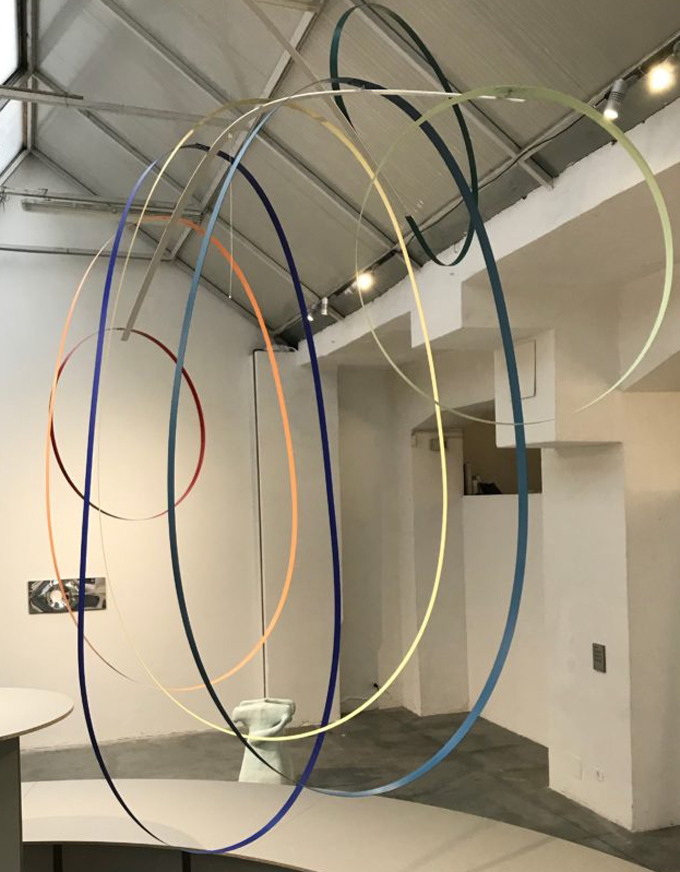 dutch invertuals ribbons hanging colors installation max lipsey art