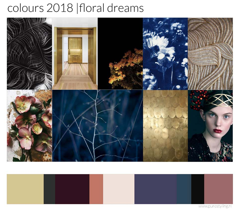 floral dreams heidi willems pure styling kleurtrends 2018 color trends