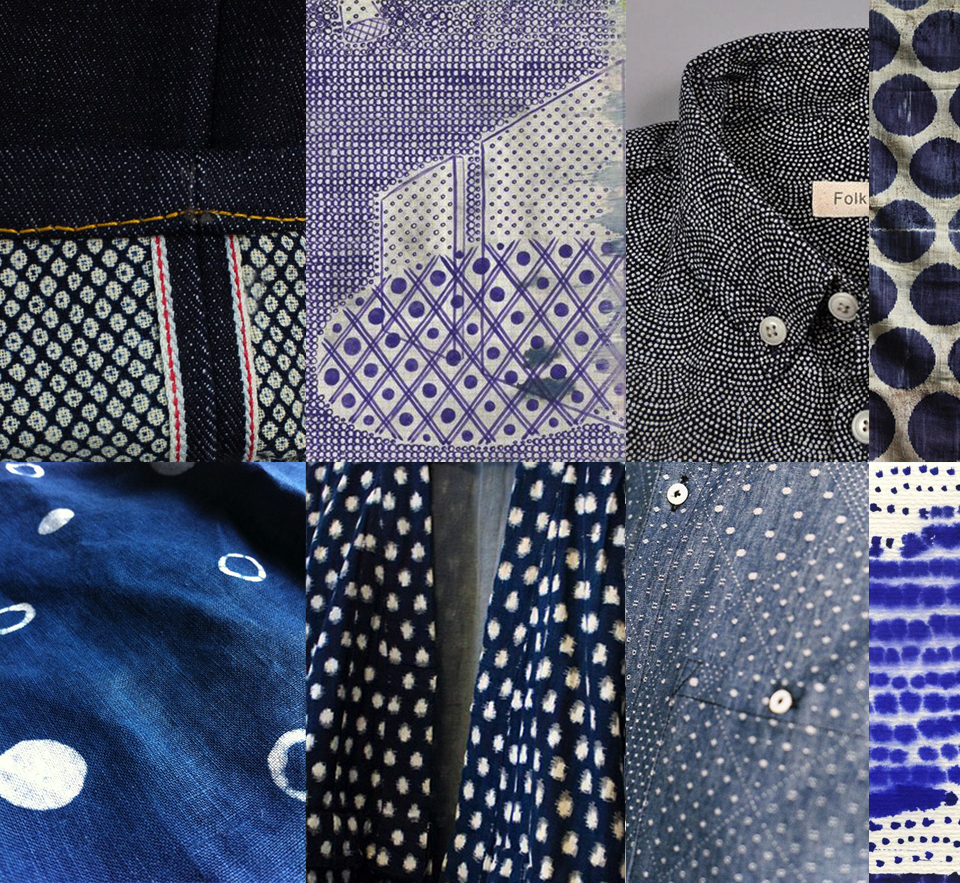 imperfect dots fashion denim japan