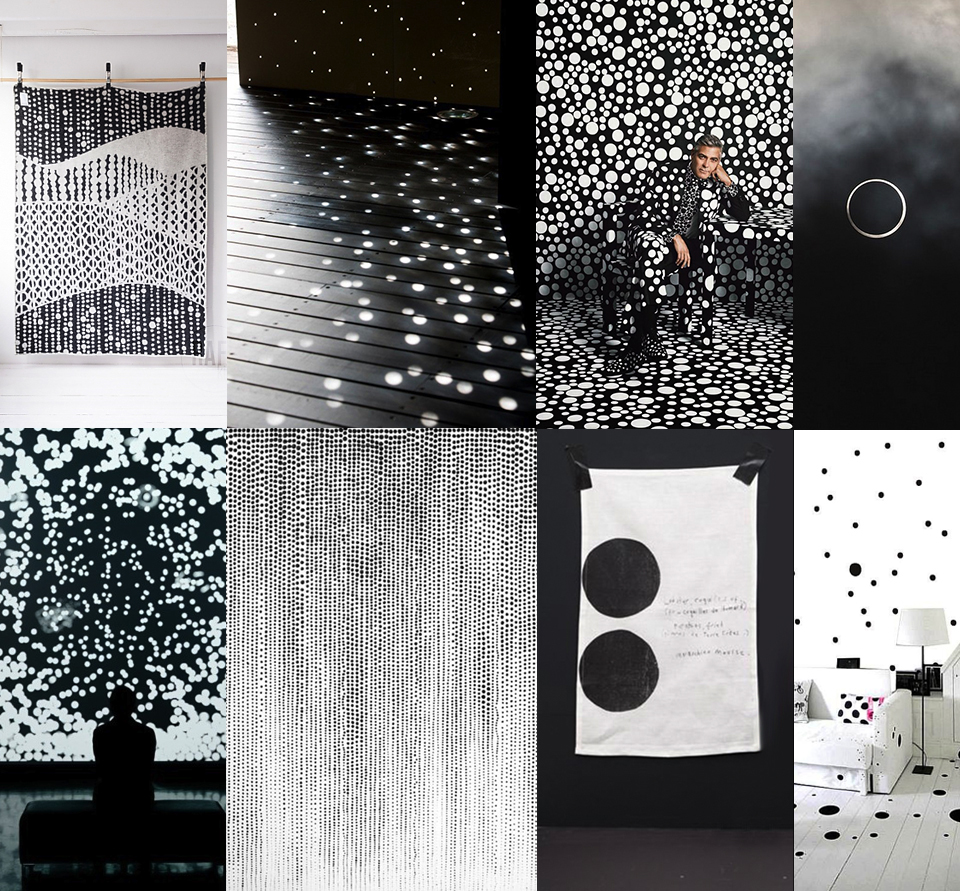imperfect dots interior zwart wit monochrome