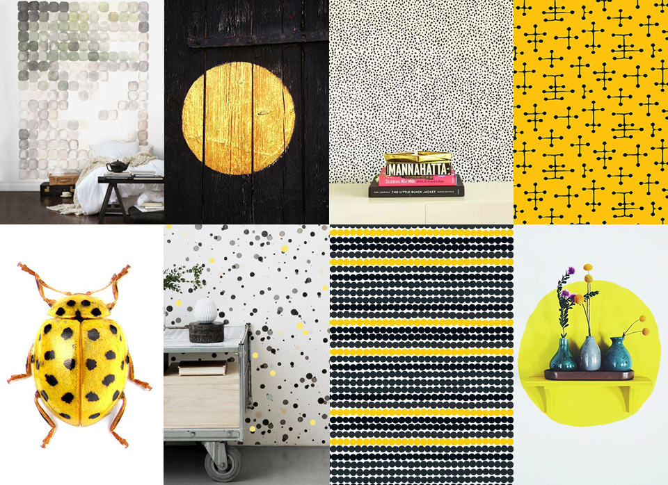 imperfect dots interior yellow pattern