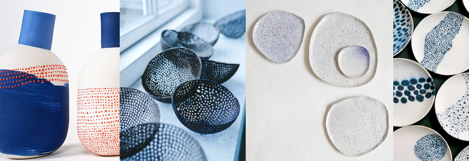 imperfect dots keramiek blauw blue ceramics imperfect