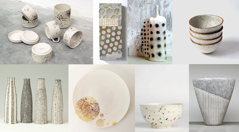 imperfect dots keramiek offwhite grey ceramics