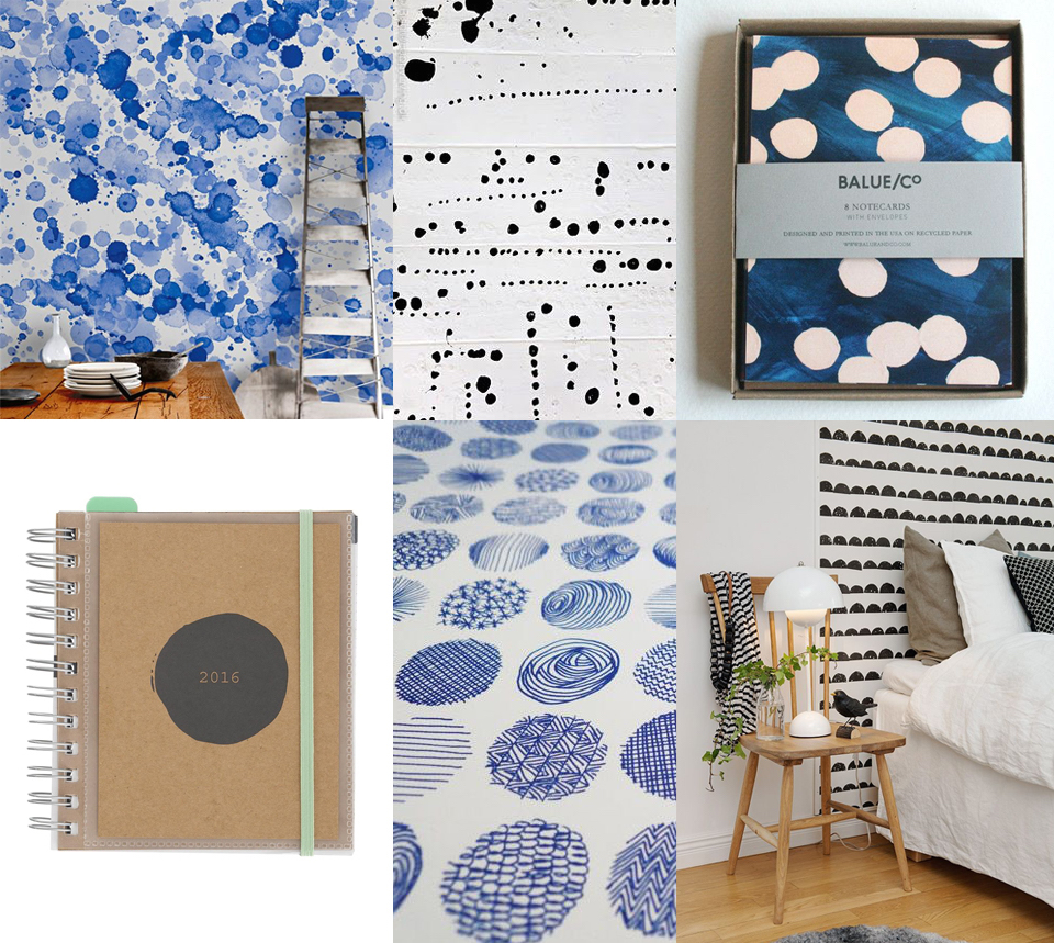 imperfect dots paperware stationery