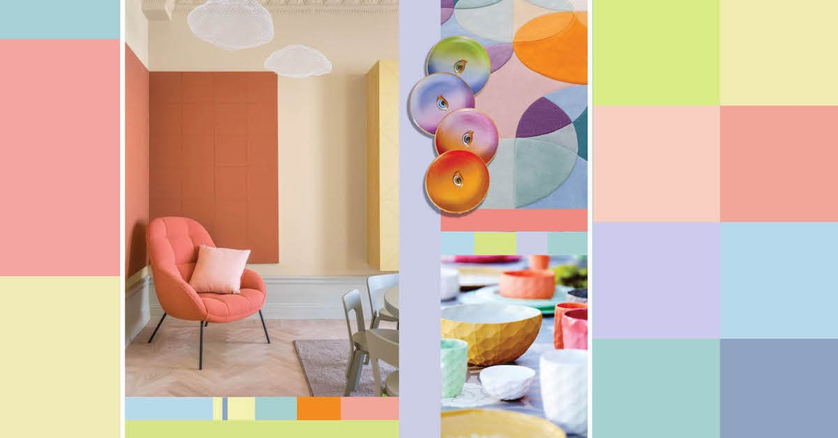 l midsummer inspiration soft reflections milou ket interieur inspiratie art trends snoepkleuren