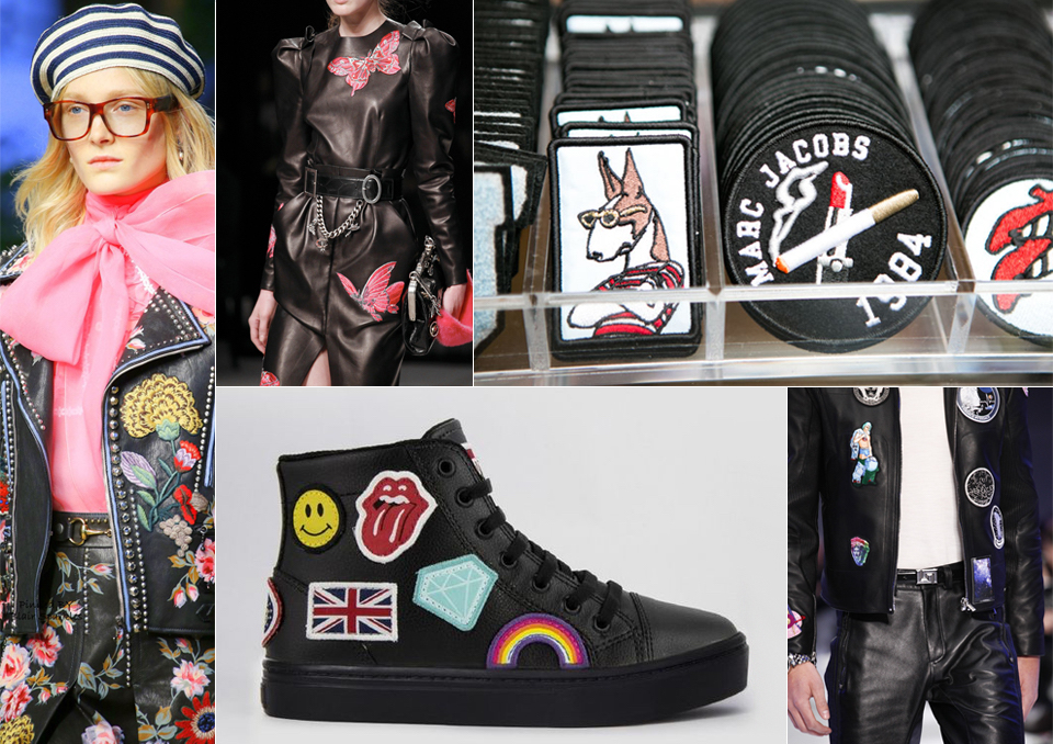 patches leather trends fashion aw16 aw17