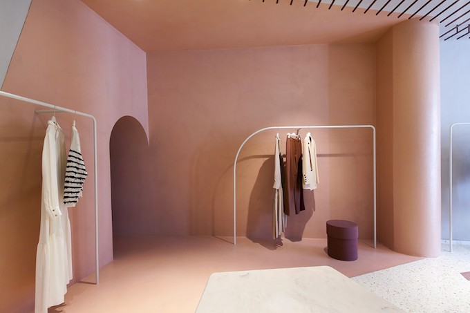 pink arches studio pepe retaildesign
