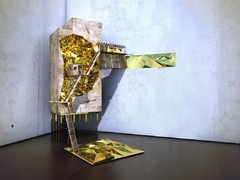 Virgilism - 'where there's gold: mining way station', 2014. Beeld: Olalekan Jeyifous. (via tageswoche.ch)