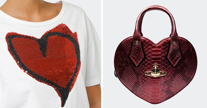 vivienne westwood hearts bag shirt