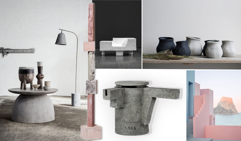wild minimalism totems interior objects raw concrete brutal