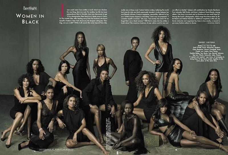 women in black vanity fair foto Anny Leibovitz